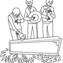 Desenho do Dia dos Mortos para colorir