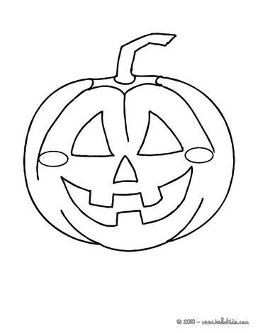 desenhos para colorir de desenho para colorir online de uma abóbora