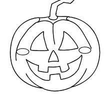 Desenho para colorir online de uma abóbora do Dia das Bruxas