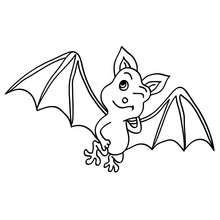 Desenho de um morcego piscando os olhos para colorir
