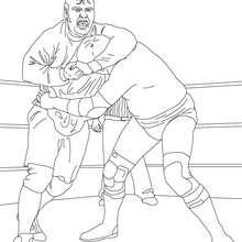 Desenho de uma luta de Wrestling para colorir