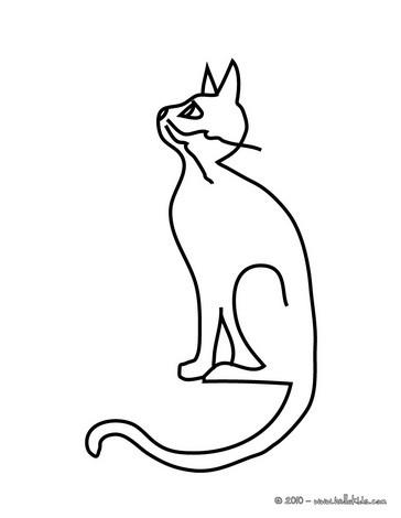 Desenhos para colorir de desenho de um gato preto - Dessin chat assis ...