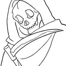 Desenho do esqueleto da morte para colorir