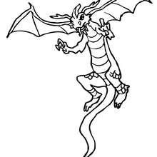 Desenho de um Dragão para colorir online