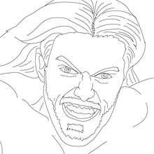 Desenho de um lutador do extremo para colorir
