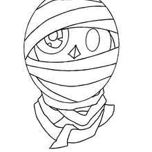 Desenho do rosto de um monstro do Dia das Bruxas para colorir