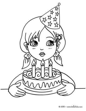 Desenhos de aniversarios de meninas para colorir - Desenhos para ...