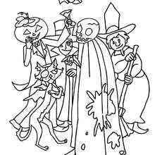 Desenho de monstros divertidos e asquerosos do Dia das Bruxas para colorir
