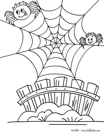 Desenhos Para Colorir De Desenho De Uma Teia De Aranha Engracada