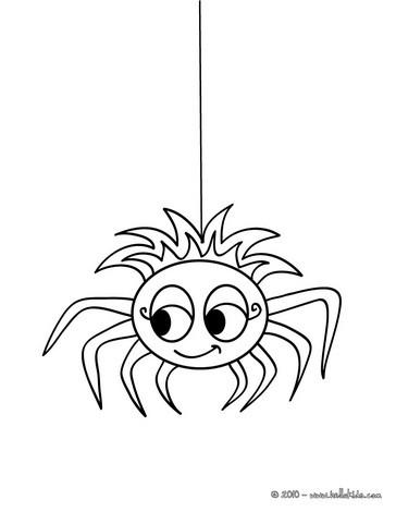 Desenhos Para Colorir De Desenho De Uma Linda Aranha Para Colorir
