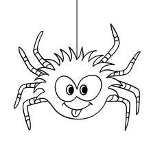 Desenho de uma aranha engraçada para colorir