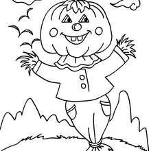 Desenho do Jack da Lanterna em um espantalho para colorir