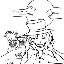 Desenho de um espantalho vivo para colorir online