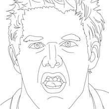 Desenho do lutador Jack Swagger para colorir