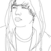 Desenhos Para Colorir De Desenho Do Rosto Do Justin Bieber Para