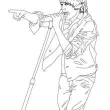 Desenho do Justin Bieber ao vivo para colorir