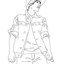 Desenho do show do Justin Bieber para colorir