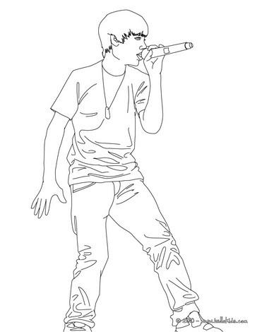 Desenhos para colorir de desenho do justin bieber em pé para colorir ...
