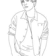 Desenho do lindo Justin Bieber para colorir