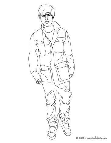 Kleurplaat Justin Bieber 2017 Desenhos Para Colorir De Desenho Do Justin Bieber Em P 233