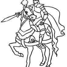 Desenho de um cavaleiro com orgulho para colorir