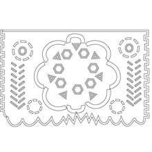 Desenho de um papél de decoração para colorir