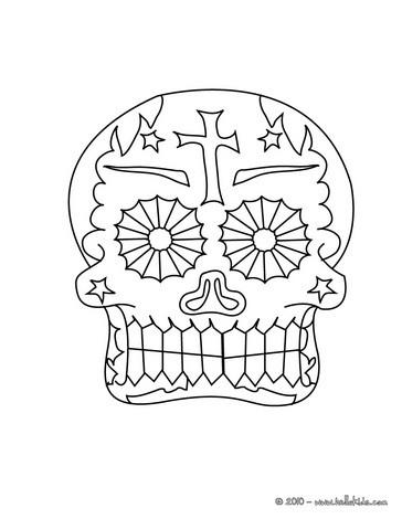 Desenhos Para Colorir De Desenho De Caveiras Mexicanas Decoradas