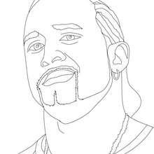 Desenho do lutador de wrestling profissional, MVP para colorir