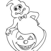 Desenho de um fantasma engraçado para colorir