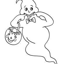 Desenho de um fantasma encantador para colorir