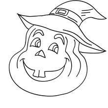 Desenho de uma adorável abóbora para colorir