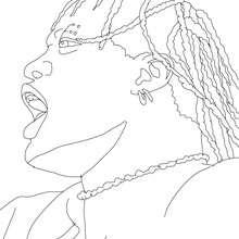 Desenho do incrível R Truth para colorir