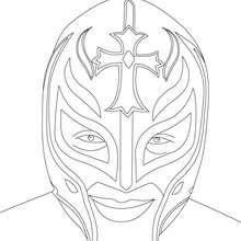 Desenho do lutador Rey Misterio para colorir