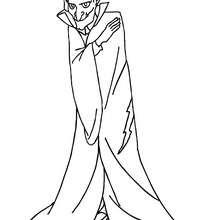 Desenho de um monstro terrível do Dia das Bruxas para colorir