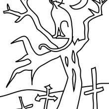 Desenho de um gato preto do Dia das Bruxas para colorir