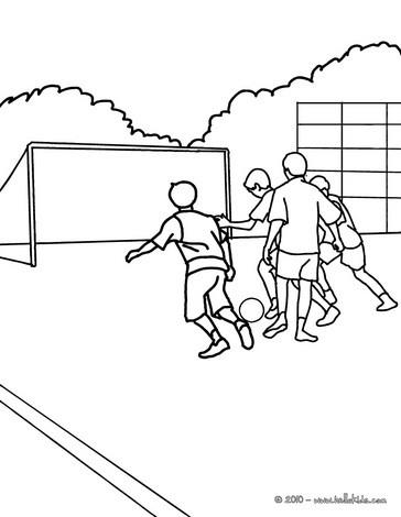 Desenho De Crian  As Jogando Futebol No Recreio Para Colorir