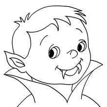 Retrato de um jovem vampiro para colorir