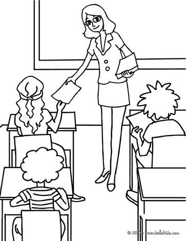 Desenhos Para Colorir De Desenho Para Colorir De Uma Professora
