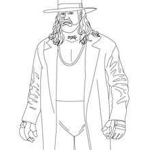 Desenho do lutador estadunidense Undertaker para colorir