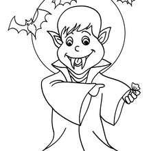 Desenho de um vampiro no luar para colorir