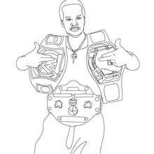 Desenho do vencedor do cinturão de ouro do WWE para colorir