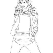 Desenho da Demi Lovato para colorir