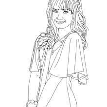 Desenho da Demi Lovato sorrindo para colorir