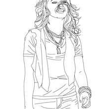 Desenho da Demetria Lovato para colorir