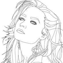 Retrato da linda Demi Lovato para colorir