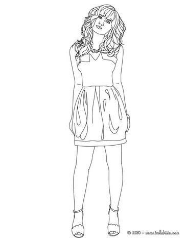 Desenho para colorir da Demi Lovato