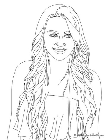Desenhos Para Colorir De Desenho Do Rosto Da Miley Cyrus Para