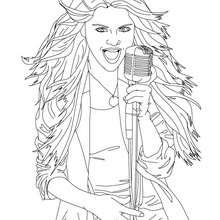 Desenho da cantora Selena Gomez para colorir
