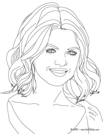 Desenhos para colorir de retrato da selena gomez sorrindo for Selena gomez coloring page
