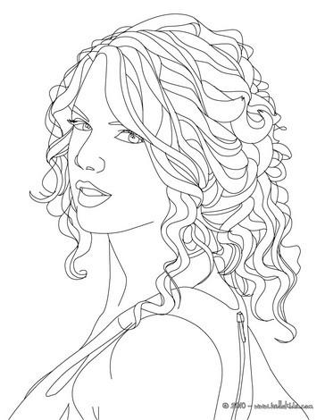 Desenhos Para Colorir De Desenho Do Retrato Da Taylor Swift